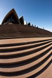 Sydney Opera House steps with fisheye lens