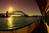 Sydney Harbour Bridge and Manly ferry