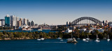 City skyline panorama - a perfect winter's day