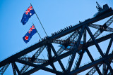 Bridgeclimbers on Sydney Harbour Bridge