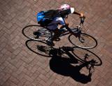 Cyclist shadow