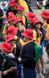 Kids in red hats