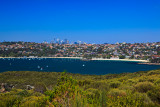Balmoral Beach, Sydney Harbour with city backdrop