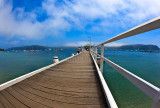 Palm Beach Wharf with fisheye lens