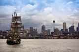 Southern Swan tallship in Sydney Harbour