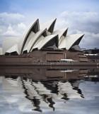Sydney Opera House with flood filter