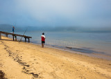 Fishing in the mist at Pittwater