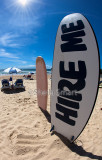 Hire Me sign on Manly Beach