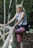 Julie looking for birds