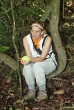Julie waiting for a Harpy Eagle