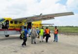 Boarding plane for Annai