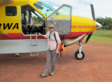 Julie and yellow plane