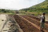 Road construction on road to Karasabai