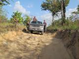 Karasabai road - where the road has yet to be fixed