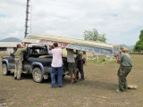 Loading boat on truck for 2nd expedition for conures.