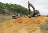 Road construction leaving Karasabai