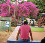 Man with pink shirt in Lethem