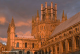 Ely Cathedral At Sundown