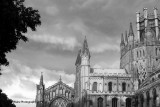 Ely Cathedral At Sundown BW