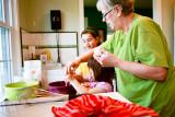Making cookies with Nana