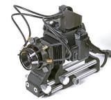 Macro Fiber Optic Light Guide Kit on Camera and  Vivitar Bellows