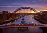 Daybreak Newcastle upon Tyne