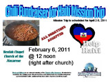2011 Feb 6 Chili Fundraiser for our Haiti Mission Trip