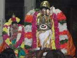 ManjalNeer Aaratthi to Sri Alwar after Purappadu.JPG