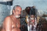 4. Sri Paramaswami Bhattar along with Sri Azhagar in Noopora Gangai - Water falls.jpg