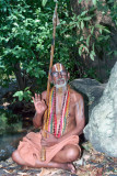 9. Srimadh Azhagiyasingar on the banks of Bavanasini river in upper Ahobilam (1994).jpg