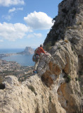 2011 Brian on the Toix ridge looking to Calpe and the Penon rock