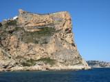 2011 Costa Blanca Sonnjanika rock climb goes up grey rock left of the arete