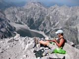 Watzmann south summit lunch