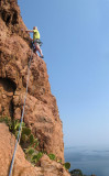 Brian climbing at Pilier de soliel