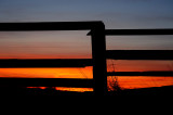 Fence Framed Sunset