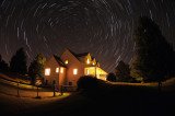 Star Trails over House