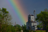 Rainbow Over Albany MFA Elevator