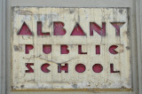 Elementary School Sign Circ. 1952
