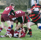 Mods' 2nds bash Burley 2nds 44-12 in 2008 opener at Cookridge Lane.