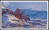 Snowy Fisher Towers