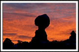 Balanced Rock Sunset Silhouette