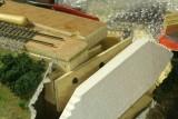 Rear support for plaster retaining