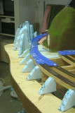 Formers in place at the cut