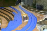 Track taped for protection, ready for plaster cloth