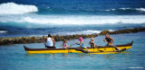 outrigger in calm water