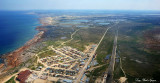 downtown Churchill and roads to Airport