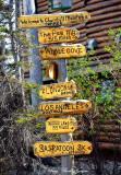sign post Lazy Bear Hotel