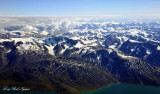 Glacier fields along Sondrestrom Fjord Greenland