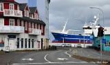ship on shore  Reykjavik  Iceland