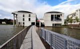 Reykjavik City Hall and Lake Tjornin